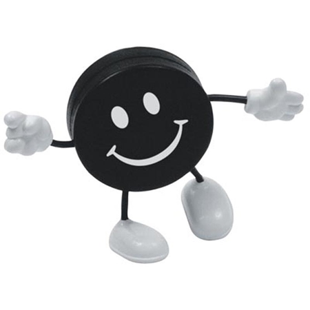 Picture of Custom Printed Hockey Puck Figure Stress Ball