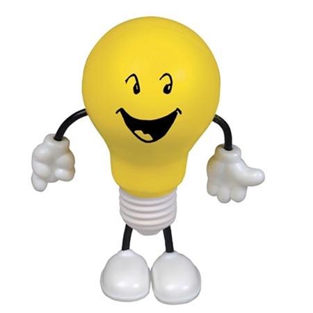 Custom Printed Lightbulb Figure Stress Ball