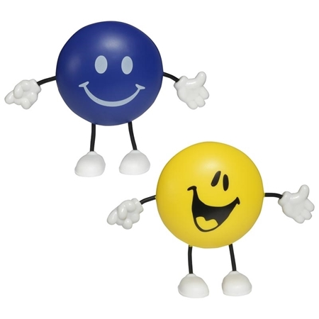 Custom Printed Round Figure Stress Ball