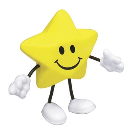 Picture of Custom Printed Star Figure Stress Ball