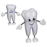 Picture of Custom Printed Tooth Figure Stress Ball