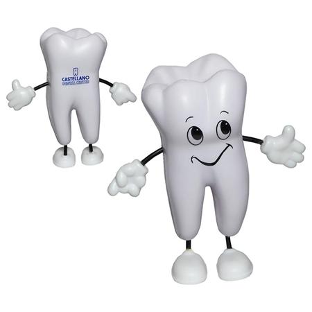Custom Printed Tooth Figure Stress Ball