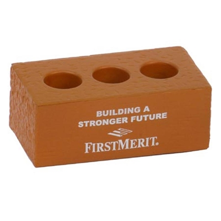 Promotional Brick With Holes Stress Ball
