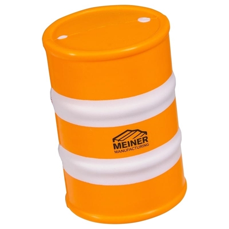Custom Printed Safety Barrel Stress Ball