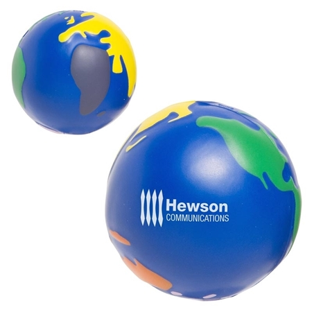 Promotional Multicolored Earthball Stress Ball