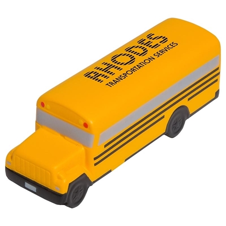Picture of Custom Printed Conventional School Bus Stress Ball