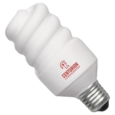 Picture of Custom Printed Mini Energy Saving Lightbulb Stress Ball