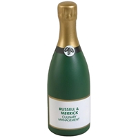 Picture of Custom Printed Champagne Bottle Stress Ball