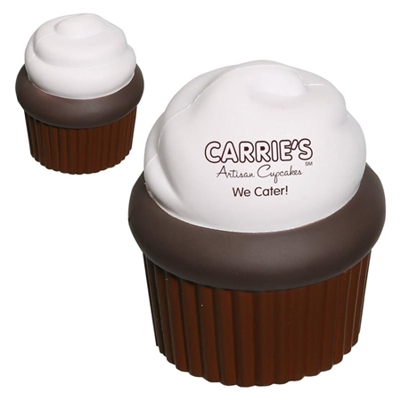 Picture of Custom Printed Cupcake Stress Ball