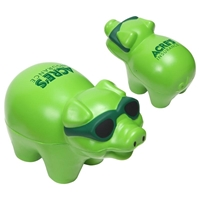 Picture of Custom Printed Cool Pig Stress Ball