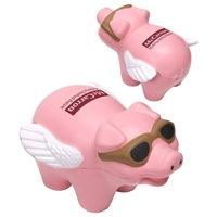 Picture of Custom Printed Flying Pig Stress Ball