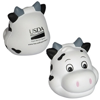 Picture of Custom Printed Milk Cow Funny Face Stress Ball