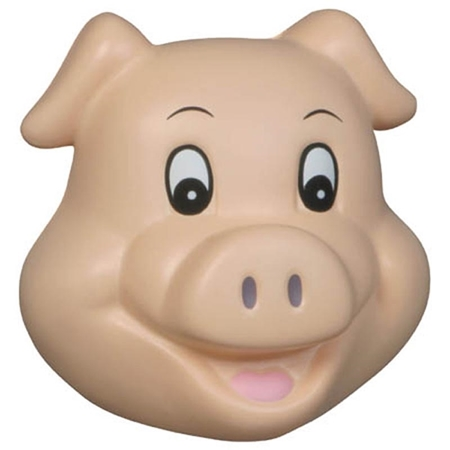 Picture of Custom Printed Pig Funny Face Stress Ball