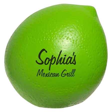 Picture of Custom Printed Lime Stress Ball