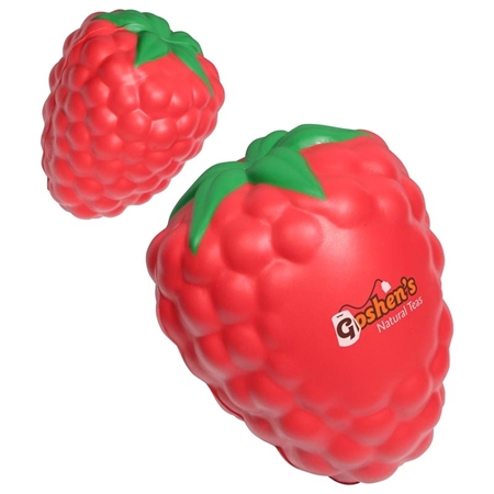 Picture of Custom Printed Raspberry With Leaf Stress Ball