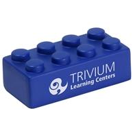 Blue custom building block stress ball