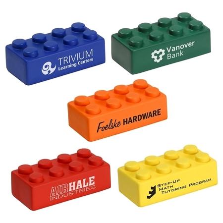 Custom Printed Building Block Individual Piece Stress Ball