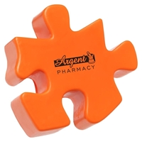 Branded Puzzle Piece Stress Ball