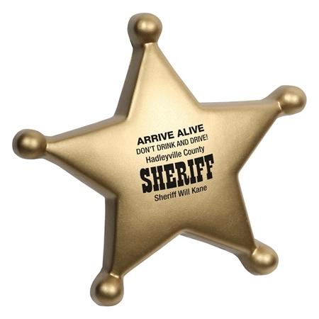 Custom Sheriff's Badge stress ball