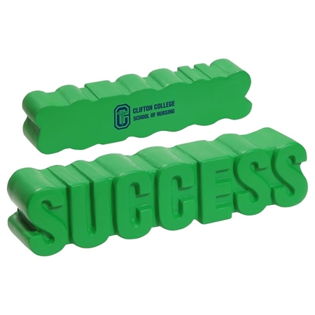 Custom Printed Success Word Stress Ball
