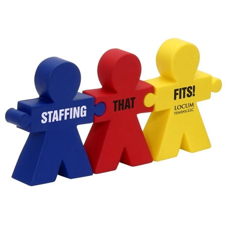Picture of Custom Printed Teamwork Puzzle Set Stress Ball