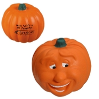 Picture of Custom Printed Pumpkin Smile Stress Ball