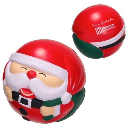 Picture of Custom Printed Santa Claus Ball Stress Ball