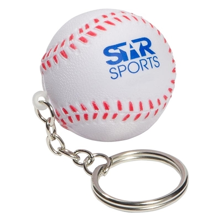 Picture of Custom Printed Baseball Key Chain Stress Ball