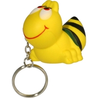 Picture of Custom Printed Bee Key Chain Stress Ball
