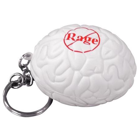 Picture of Custom Printed Brain Key Chain Stress Ball
