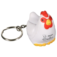 Picture of Custom Printed Chicken Key Chain Stress Ball