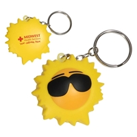 Picture of Custom Printed Cool Sun Key Chain Stress Ball
