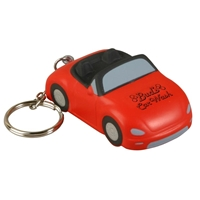 Picture of Custom Printed Convertible Car Key Chain Stress Ball