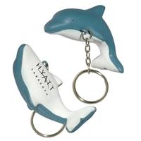Picture of Custom Printed Dolphin Key Chain Stress Ball