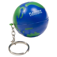 Picture of Custom Printed Earthball Key Chain Stress Ball