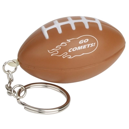Promotional Football Keychain Stress Ball