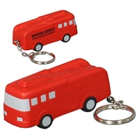 Picture of Custom Printed Fire Truck Key Chain Stress Ball
