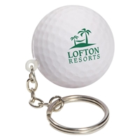 Picture of Custom Printed Golf Ball Key Chain Stress Ball
