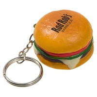Picture of Custom Printed Hamburger Key Chain Stress Ball