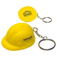 Picture of Custom Printed Hard Hat Key Chain Stress Ball