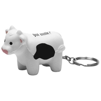 Picture of Custom Printed Milk Cow Key Chain Stress Ball