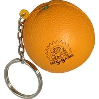 Picture of Custom Printed Orange Key Chain Stress Ball