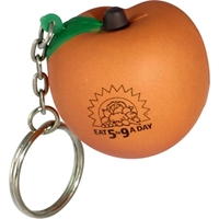 Picture of Custom Printed Peach Key Chain Stress Ball