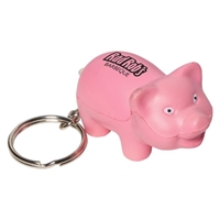 Picture of Custom Printed Pig Key Chain Stress Ball