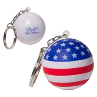 Picture of Custom Printed Patriotic Stress Ball Key Chain Stress Ball