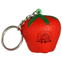 Picture of Custom Printed Strawberry Key Chain Stress Ball