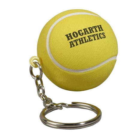 Picture of Custom Printed Tennis Ball Key Chain Stress Ball