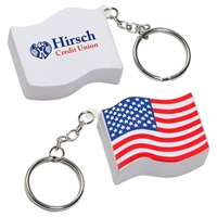 Picture of Custom Printed Us Flag Key Chain Stress Ball