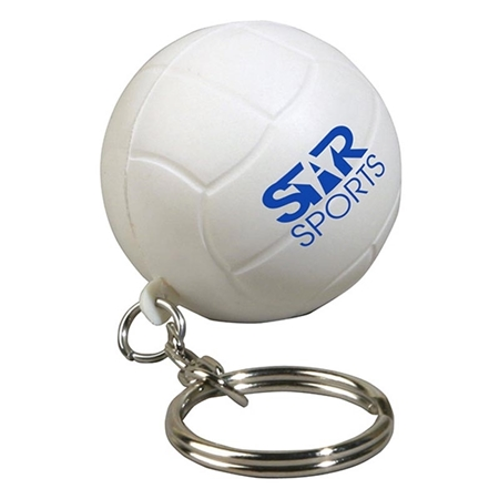 Promotional Volleyball Key Chain Stress Ball