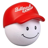 Picture of Custom Printed Baseball Mad Cap Stress Ball